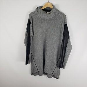 TRIBAL JEANS Mock Turtleneck Ribbed Knit Sweater